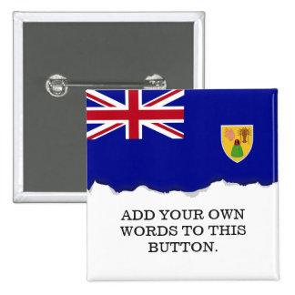 Bandera de Turks and Caicos Islands Pin Cuadrado