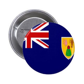 Bandera de Turks and Caicos Islands Pin Redondo De 2 Pulgadas