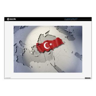 Bandera de Turquía Calcomanía Para Portátil