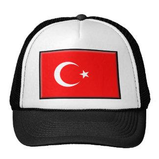 Bandera de Turquía Gorros Bordados