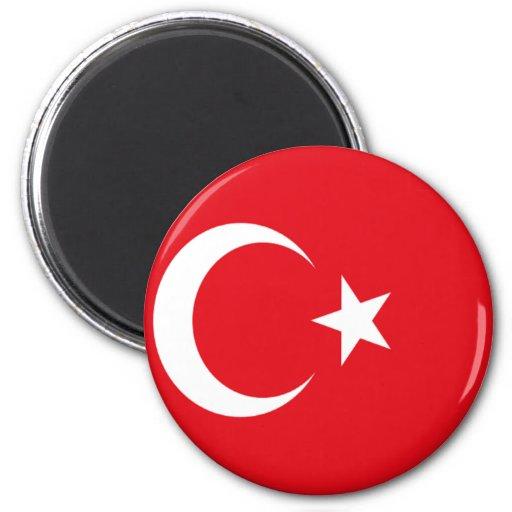 Bandera de Turquía Imán Redondo 5 Cm
