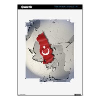 Bandera de Turquía iPad 3 Pegatina Skin
