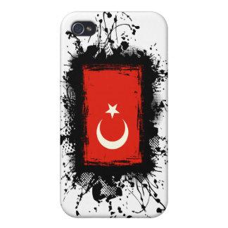 Bandera de Turquía iPhone 4 Carcasa