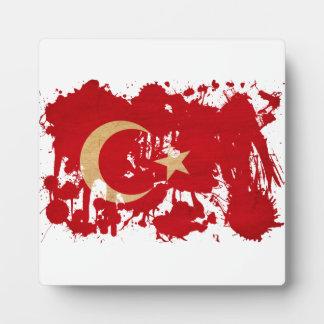 Bandera de Turquía Placas De Plastico