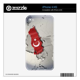 Bandera de Turquía Skins Para iPhone 4S