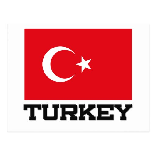 Bandera de Turquía Tarjeta Postal