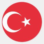 Bandera de Turquía, Trinidad and Tobago Pegatinas Redondas