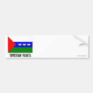 Bandera de Tyumen Oblast Etiqueta De Parachoque