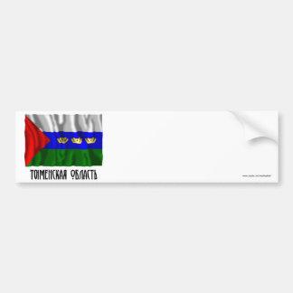 Bandera de Tyumen Oblast Pegatina Para Auto