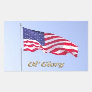 bandera de u s, pegatina de la gloria del ol