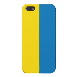 bandera de Ucrania del caso del iPhone 4 iPhone 5 Fundas