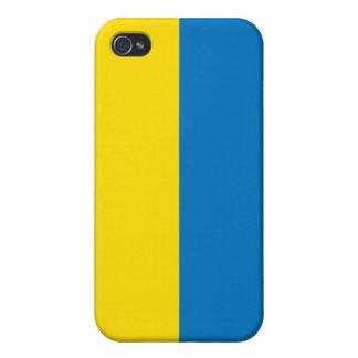 bandera de Ucrania del caso del iPhone 4 iPhone 4/4S Carcasas