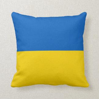 Bandera de Ucrania en la almohada de MoJo del amer