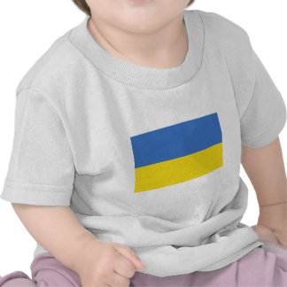 Bandera de Ucrania en las camisetas y los regalos