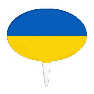 Bandera de Ucrania Figuras De Tarta