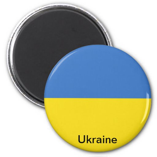 Bandera de Ucrania Imán Redondo 5 Cm