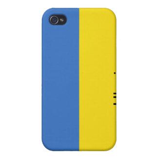 Bandera de Ucrania iPhone 4 Protectores
