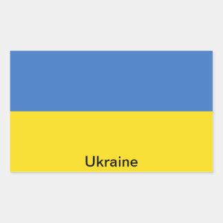 Bandera de Ucrania Rectangular Pegatinas