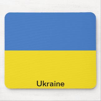 Bandera de Ucrania Tapetes De Ratones