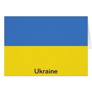 Bandera de Ucrania Tarjetón