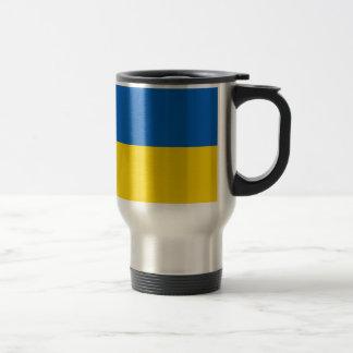 Bandera de Ucrania Taza De Viaje