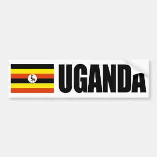 Bandera de Uganda Pegatina De Parachoque