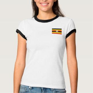 Bandera de Uganda + Camiseta del mapa Camisas