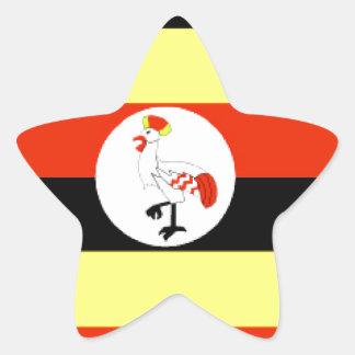 Bandera de Uganda Calcomania Forma De Estrella Personalizada