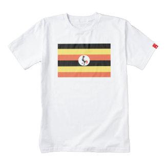 Bandera de Uganda Playera Zazzle HEART