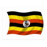 Bandera de Uganda Tarjetas Postales