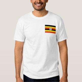 Bandera de Uganda y camiseta del mapa Playeras