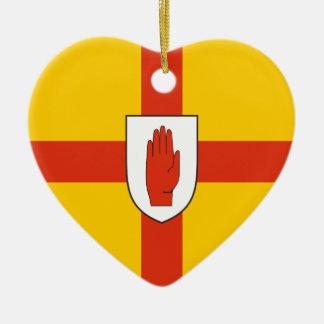 Bandera de Ulster, Irlanda Adorno De Cerámica En Forma De Corazón