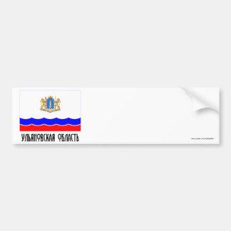 Bandera de Ulyanovsk Oblast Pegatina De Parachoque