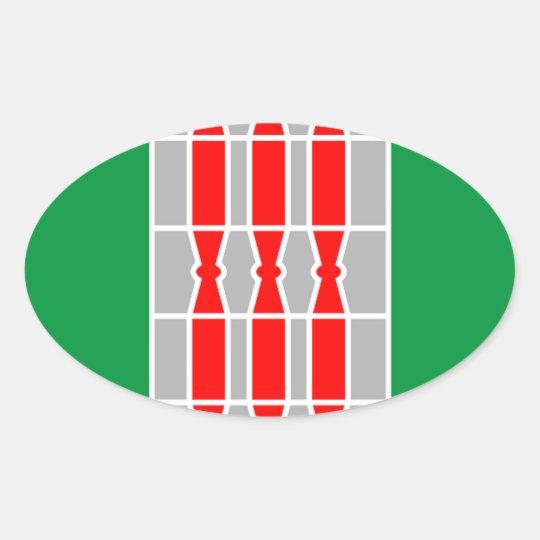 Bandera de Umbría (Italia) Pegatina Ovalada