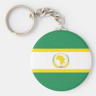 Bandera de unión africana llavero redondo tipo pin