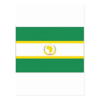 Bandera de unión africana tarjetas postales