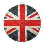 Bandera de unión británica tablero dardos