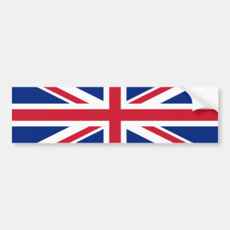 Bandera de unión etiqueta de parachoque