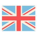 Bandera de unión/crema del diseño de Jack, azul Postal