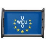 Bandera de unión de Europa occidental Bandejas