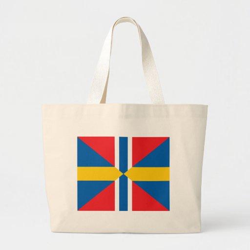Bandera de unión de Noruega Suecia Bolsa Tela Grande