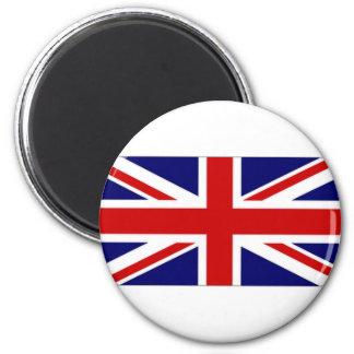 Bandera de unión de Reino Unido amperio Jack naval Imán Redondo 5 Cm
