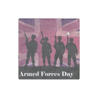 Bandera de unión del día de fuerzas armadas de imán de piedra