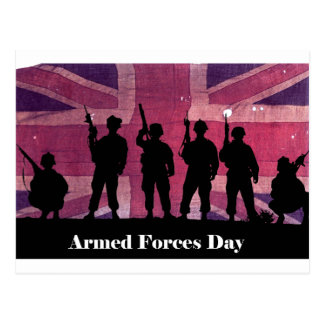 Bandera de unión del día de fuerzas armadas de postales