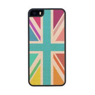 Bandera de unión/diseño de Jack - multicolor Funda De Arce Carved® Para iPhone 5 Slim