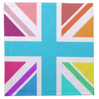 Bandera de unión/diseño de Jack - multicolor Servilleta Imprimida