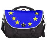 Bandera de unión europea bolsas para ordenador