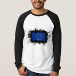 Bandera de unión europea camisas