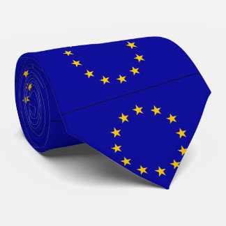 Bandera de unión europea de E. - Corbata Personalizada