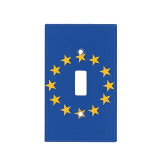 Bandera de unión europea de la cubierta de Lightsw Tapa Para Interruptor